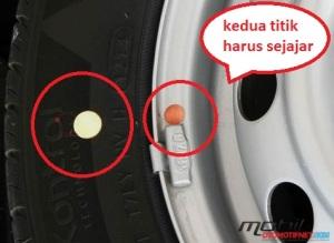 kedua tanda titik harus sejajar (sumber otomotif.net)