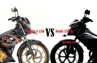 Suzuki Satria F 150 vs Honda Sonic 150 R