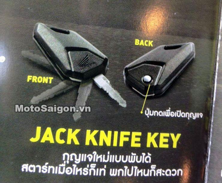 Honda MSX 125 Facelift 2016 jack knife keys