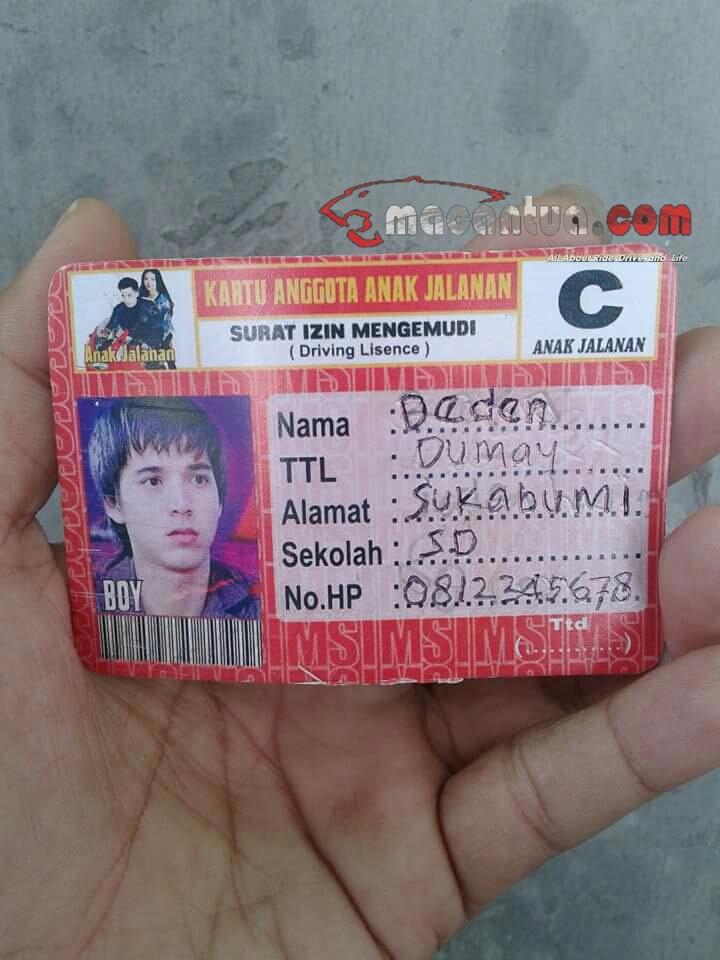 sim kartu anggota anak jalanan macantua.com