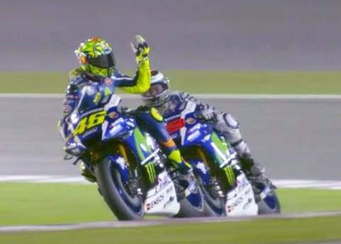 lorenzo-vs-rossi qatar qualification