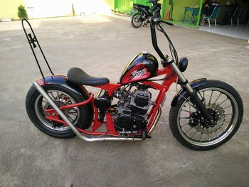 Yamaha Scorpio modif chooper 1