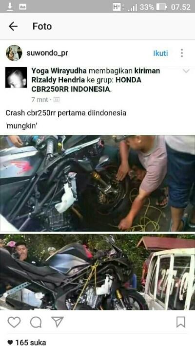 Cbr250rr crash
